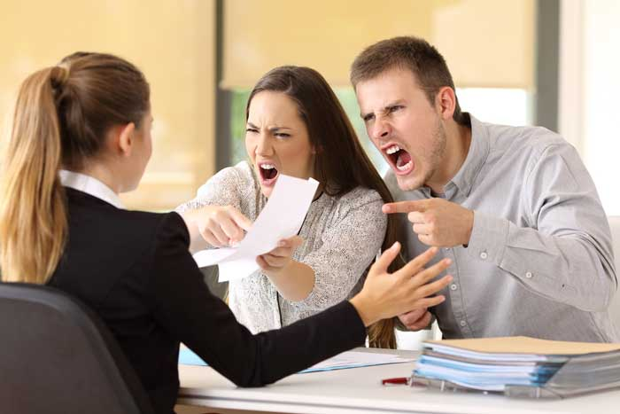 Family law attorney dealing with a divorce case